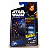 Star Wars Year 2010 The Clone Wars Galactic Battle Game Series 4 Inch Tall Action Figure - CW32 BOBA FETT With...