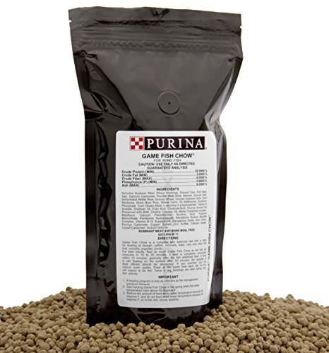 Purina Mills Game Fish Chow, A 32% Protein, Extruded Multi-Particle Size Floating Diet For Bass, Bluegill, Catfish, Minnows, Carp, And Other Fish That Normally Populate Ponds, 1 lb. (Cichlid Food Bulk compare prices)