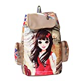 #5: Gracetop Women'S Leather Messenger Backpack Bag