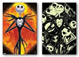 (22x34) Nightmare Before Christmas Movie Scary Glow in the Dark Poster Poster Print, 22x34