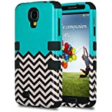 Galaxy S4 Case Samsung Galaxy S4 Case - ULAK 3in1 Hybrid Impact Shockproof Rubber Combo Case Cover [Hard Plactic Shell and Soft Silicone Skin] Shock-Absorption / Impact Resistant Bumper Fashion Design for Galaxy S4 Samsung Galaxy S4 IV i9500 (Follow the Sky/Black)