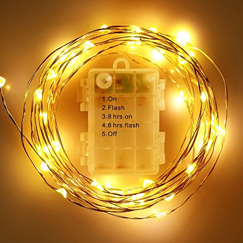 2-Packs-FOXNOV-Waterproof-Battery-Operated-50-LED-Fairy-String-Lights-5-Modes-5M164Ft-Warm-White-Last-Over-80-hrs
