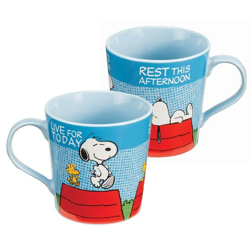 Peanuts® Live For Today Ceramic Mug - Birthday And Theme Party Supplies