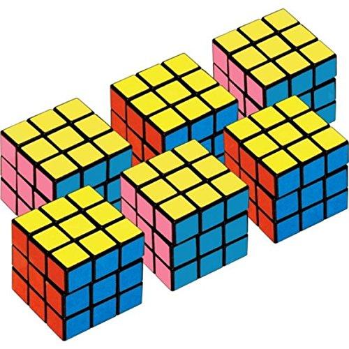 Amscan mini cubes party favors cube puzzle 6 pack 885422719194