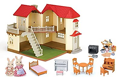 Calico Critters Calico Cloverleaf Townhome Gift Set by International Playthings