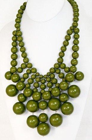 WIIPU beads links Necklace Acrylic Beaded Necklace Luxury Large Statement Fashion Jewelry