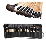 MAANGE Cosmetic Makeup Brush Set - 32pcs With With Roll Up Black Case