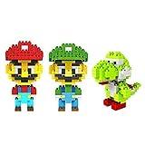 ZOZ LOZ 3box Diamond Block Mario Luigi Yoshi Toys Compatible Nano Block Parent-child Games Building Blocks Childrens...