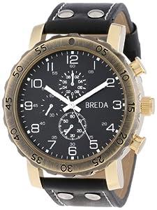 Breda Men's 1635-D Steve Oversized Industrial Stud Leather Watch