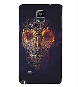 SAMSUNG GALAXY NOTE 4 FIRE SKULL Designer Back Cover Case By PRINTSWAG