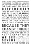 Apple Think Different Poster 59 x 84 cm