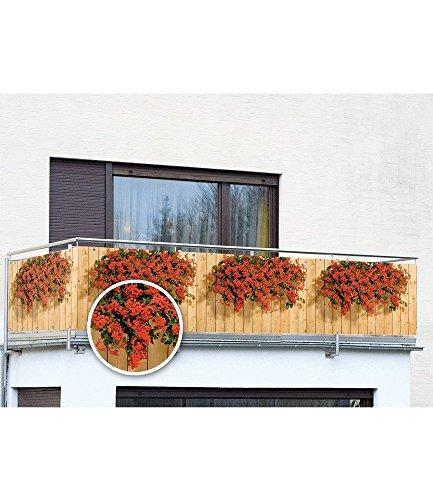 balkon sichtschutz geranien 5 m. Black Bedroom Furniture Sets. Home Design Ideas