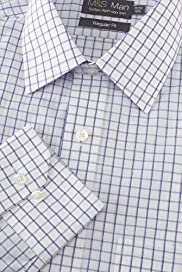 Non-Iron Cotton Rich Outlined Checked Shirt