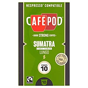 Shop for CafePod Origins Sumatra Nespresso Compatible Capsules 10 per pack - CafPod