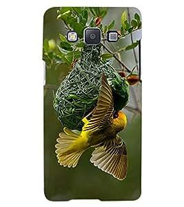 ColourCraft Busy Bird Design Back Case Cover for SAMSUNG GALAXY A7