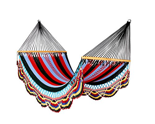 Artisan Handwoven Hammock 13 Ft 2 Person 500 Lbs (Multicolor)