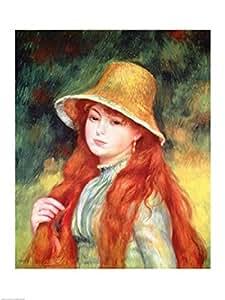 Pierre auguste renoir jeune fille dans un chapeau de for Renoir maison classique