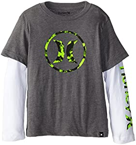 Hurley Little Boys' Air LF Slider, Medium Grey Heather, 7