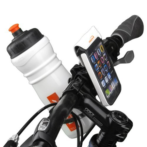 Ibera Bike Weather Resistant Smartphone Bag with Stem Mount, White
