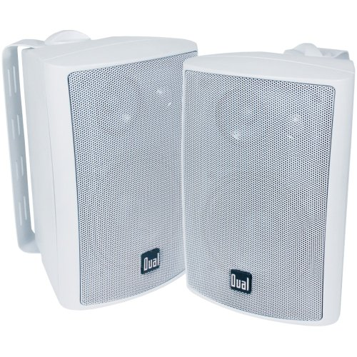 "Dual Lu43Pw 4"" 3-Way Indoor/Outdoor Speakers (White)"