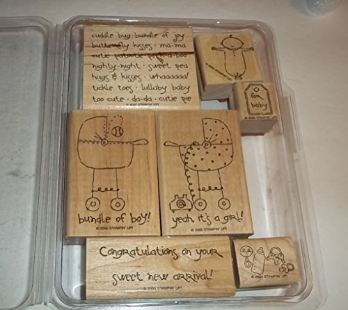 Stampin Up Baby Talk Rubber Stamp Set Of 7 front-60255
