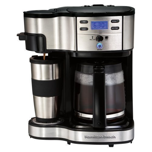 Dual Coffee Maker K Cup : Hamilton Beach Two Way Brewer Single Serve and 12 cup Coffee Maker eBay