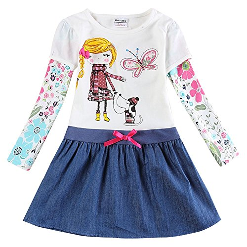 Novatx Cotton Baby Girl Clothes with Sunny Girl and Animals H5926 Crea (5/6y) (Made In China Wholesale compare prices)