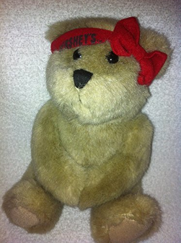HERSHEY'S BROWN BEAR WITH RED BOW HEADBAND PLUSH 7""