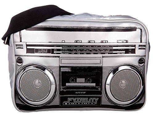 Fydelity G-Force Stereo Shoulder Bag Silver. Real Speakers - connect your MP3 player/tablet/smartphone