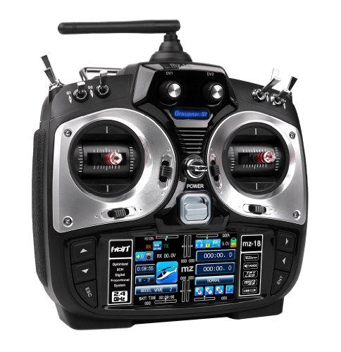 Graupner/SJ HoTT S1005 - Fernsteuerung Set, MZ-18, 9 Kanal, Englisch
