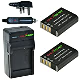 ChiliPower Fuji NP-95, NP95 1900mAh Battery 2-Pack + Charger (UK Plug) for Fujifilm Finepix X100S, X100, F30, X-S1, F31fd, Real 3D W1, BC-65