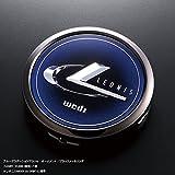 WEDS(ウェッズ)  LEONIS アルミホイール用 センターキャップ  ブルーグラデーションアクリルオーナメント/ブラックメッキリング 1個 52489