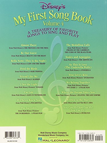 Disney My First Song Book Easy Piano Vol.4