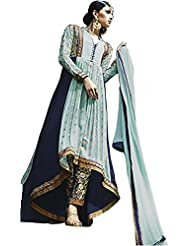 Sky Blue Royal Georgette Suit With Bottom And Dupatta