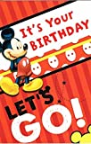 Disney mickey mouse it's your birthday let's go ! birthday card