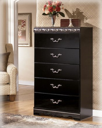 Constellations Chest Dresser in Black Finish