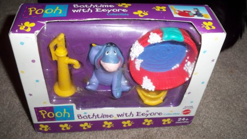 Buy Low Price Mattel Bathtime with Eeyore Collectible Figure Set – Pooh (B0022NE928)