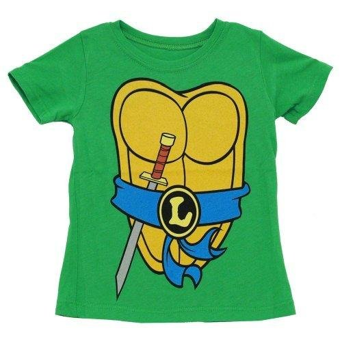 [TMNT Teenage Mutant Ninja Turtles Costume Green Leonardo Toddler T-shirt, Leonardo Blue, Child 7] (Leo Johnson Costume)