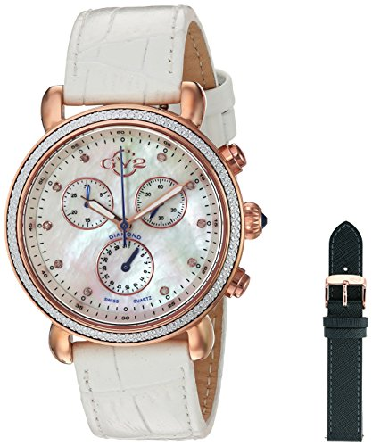 GV2-by-Gevril-Womens-9803-Marsala-Analog-Display-Swiss-Quartz-White-Watch