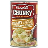 Campbell's Chunky Creamy Chicken & Dumplings Soup, 18.8 Ounce Cans (Pack of 12) by Campbell's