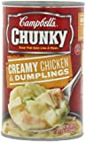 Campbell's Chunky Creamy Chicken & Dumplings Soup, 18.8 Ounce Cans (Pack of 12)