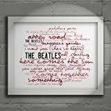 `Zephyr` Art Print - THE BEATLES - Abbey Road - Signed & Numbered Limited Edition Typography Wall Art Print - Song Lyrics Mini Poster