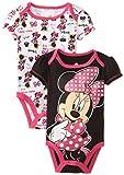 Disney Baby Baby-Girls Newborn Disney's Minnie Mouse 2 Pack Bodysuit