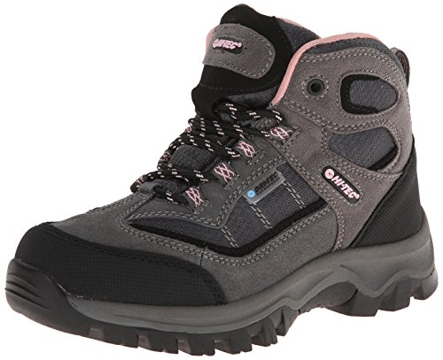 Hi-Tec Kids Unisex Hillside Waterproof Jr hiking Boot (Toddler/Little Kid/Big Kid), Charcoal/Blush, 7 M Big Kid