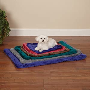 Slumber Pet Plush Crate Dog Mat, X-Large, 35-Inch, Chocolate