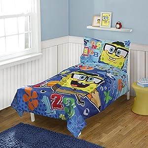 Spongebob Squarepants Toddler Bedding Set, 4-Piece