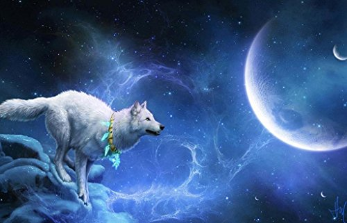 Jigsaw 1000 pieces Puzzle of Magic-White-Wolf by BOYER PUZZLE