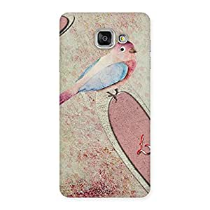 Love Bird Drawing Back Case Cover for Galaxy A7 2016