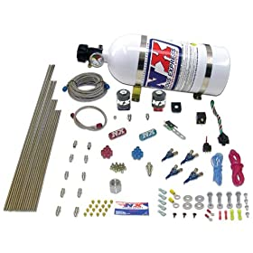 Nitrous Express 80004EFI-10 50-200 HP 4-Cylinder Gasoline EFI Piranha Nozzle System with 10 lbs. Bottle