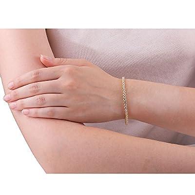 Stardust Diamond Silver Tennis Bracelet (GOLD)